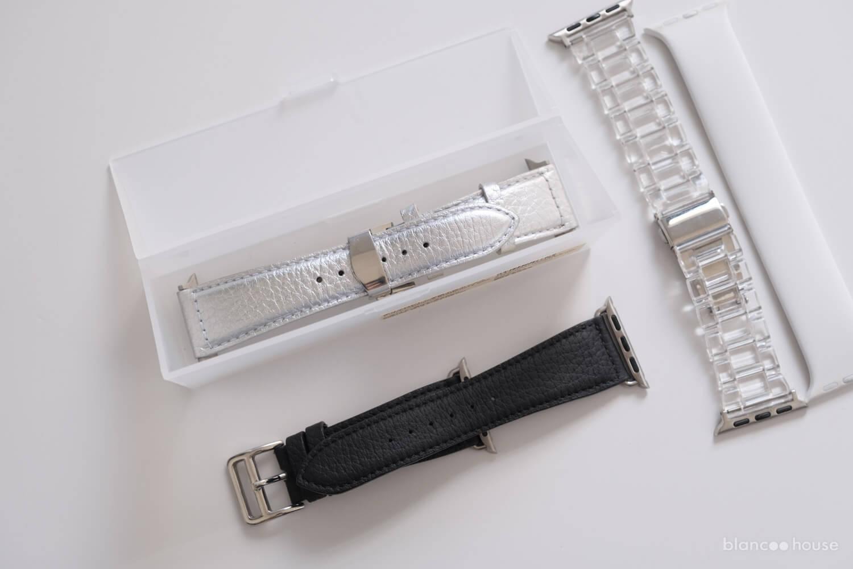無印良品 ポリプロピレン 事務小物ボックスにApple Watchのバンドを入れる