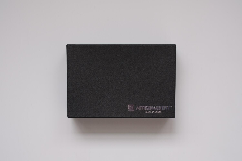 ARTISAN&ARTIST グラデーションシルクコードストラップ ブラックシルバー グラデーション 箱