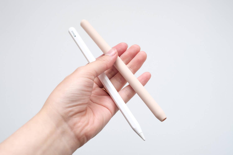 AhaStyle 第二世代 Apple Pencil シリコン保護ケース ApplePencilと比較