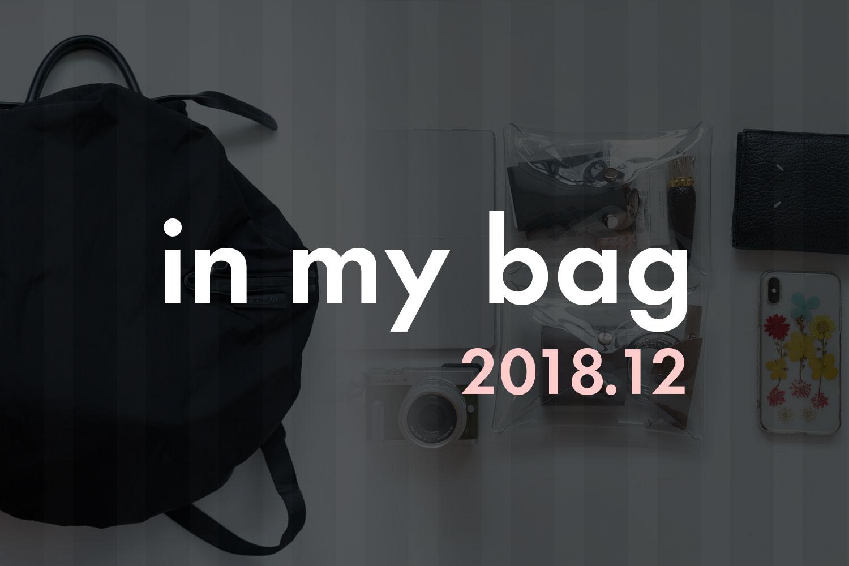 2018年12月 カバンの中身を公開しちゃいます!