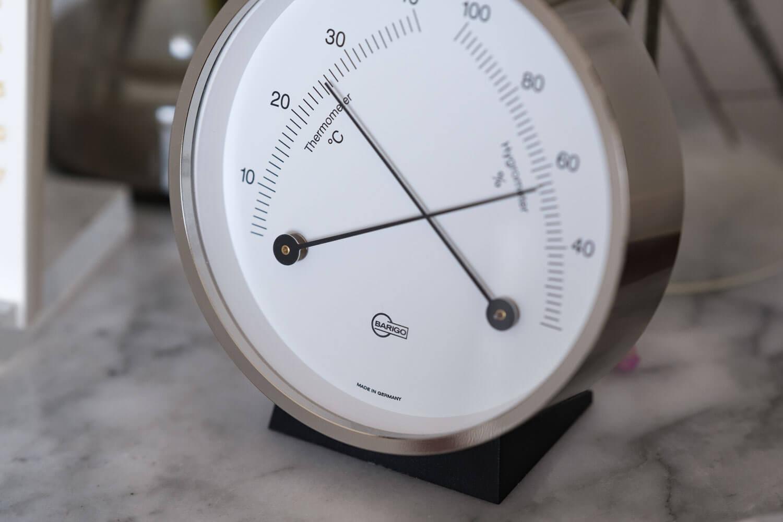 BARIGO(バリゴ)温湿度計の針部分アップ