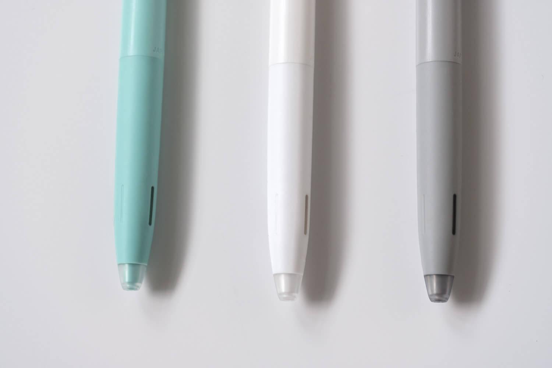 ゼブラ ブレン(bLen)限定カラー ブルーグリーン モノトーンとペン先比較
