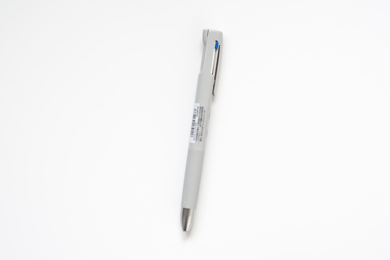 ゼブラのブレン3C多色ボールペン グレーの全体