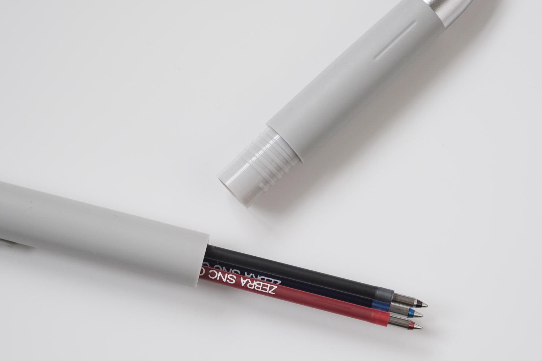 ゼブラのブレン3C多色ボールペンのインク部分