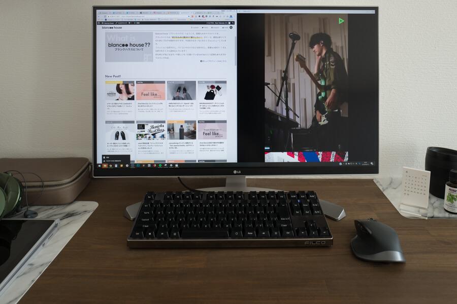 LG 4Kディスプレイ 27UD88-W