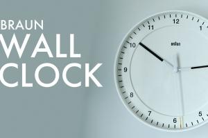 BRAUN(ブラウン)30cm壁掛け時計Wall Clock BNC017を買いました!