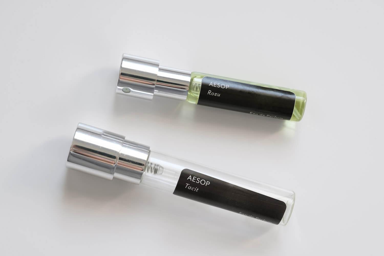 香水の定期便 カラリアのガラス瓶の新旧比較