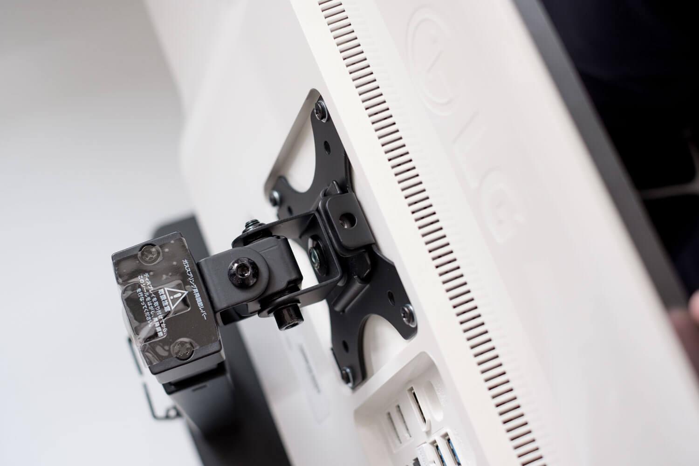 グリーンハウス 液晶ディスプレイアーム GH-AMCM01  スタンドにディスプレイを取り付け