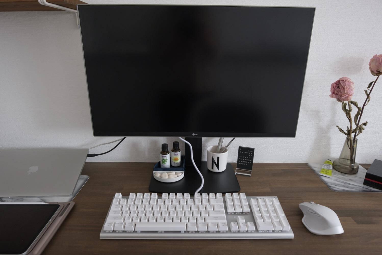 グリーンハウス 液晶ディスプレイアーム GH-AMCM01 ディスプレイ全体