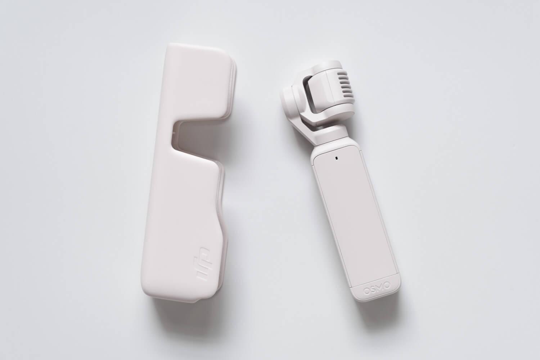 DJI Pocket 2 サンセットホワイトの本体とケース
