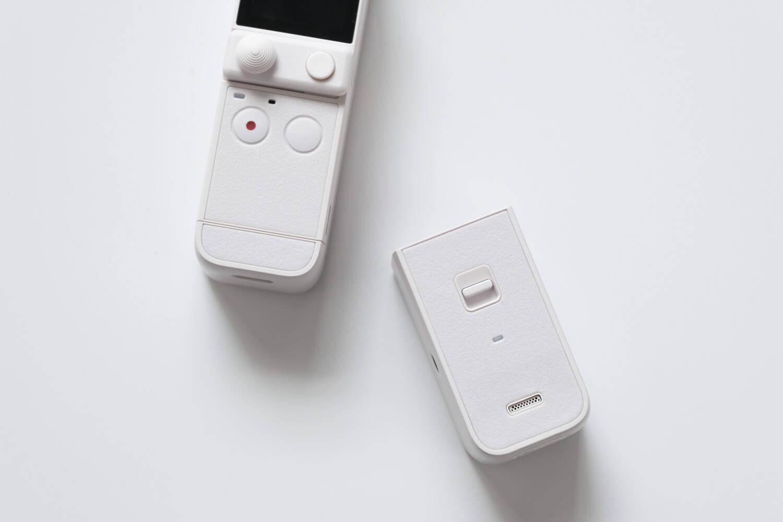 DJI Pocket 2 サンセットホワイトの脱着式ベースとDo-It-Allハンドル