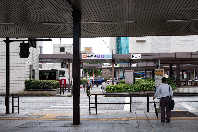 広島エコリアム バスの停留所がたくさんあります