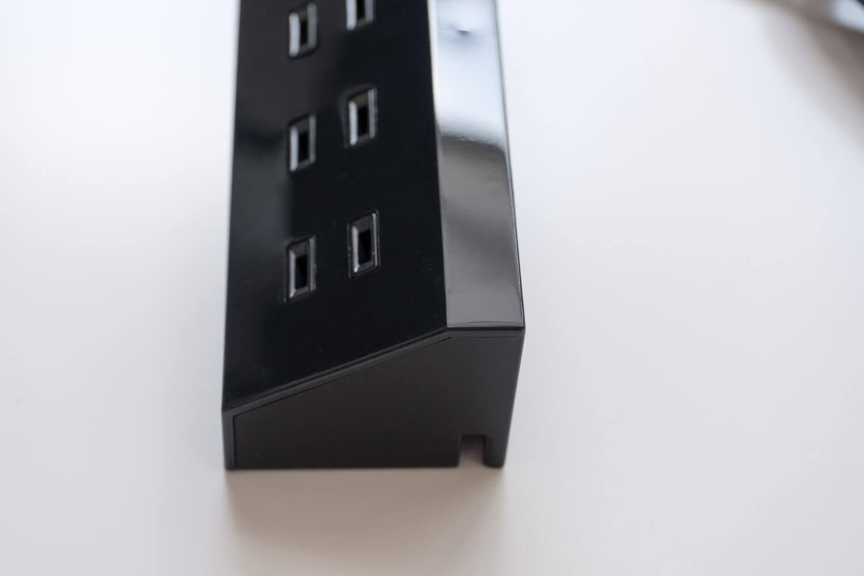 エレコム(ELECOM)デザインコンセントタップ Angle  艶ありの鏡面仕上げが美しい