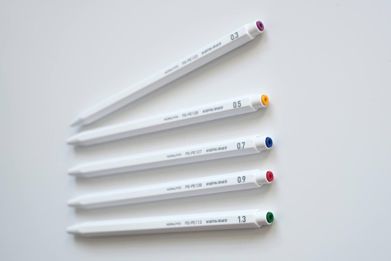 コクヨ 鉛筆シャープ 限定セットホワイトシャープペンシルのノック部分の色