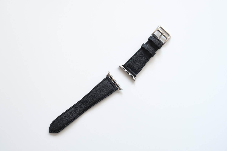 EPONAS シュランケンカーフ Apple Watchバンド(ベルジアンブラック)の尾錠を付け替えたところ