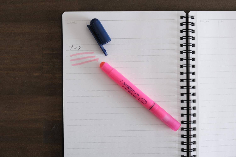 ステッドラー サーファーゲルのピンクは裏写りしないなめらかな書き心地