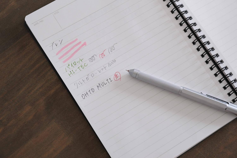 OHTO MULTIボールペン MF-20K3Bで書いたところ