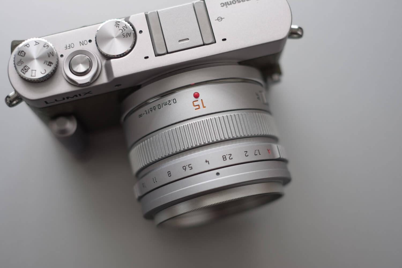 LUMIX GM5 グリーン 上部 パナライカ 15mm f1.7