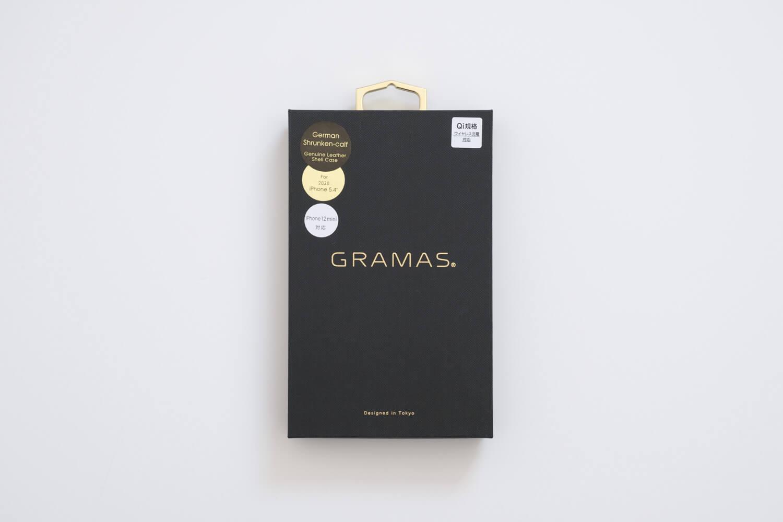 GRAMAS iPhone12 miniケース シュランケンカーフ トープカラーの箱
