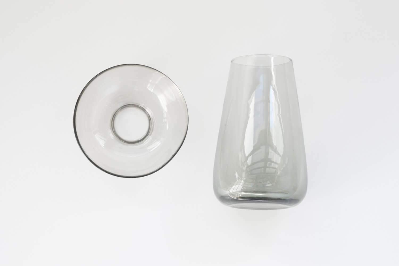KINTO(キントー)アクアカルチャーベース80mmグレーは球根水栽培と花瓶の2通りで使える