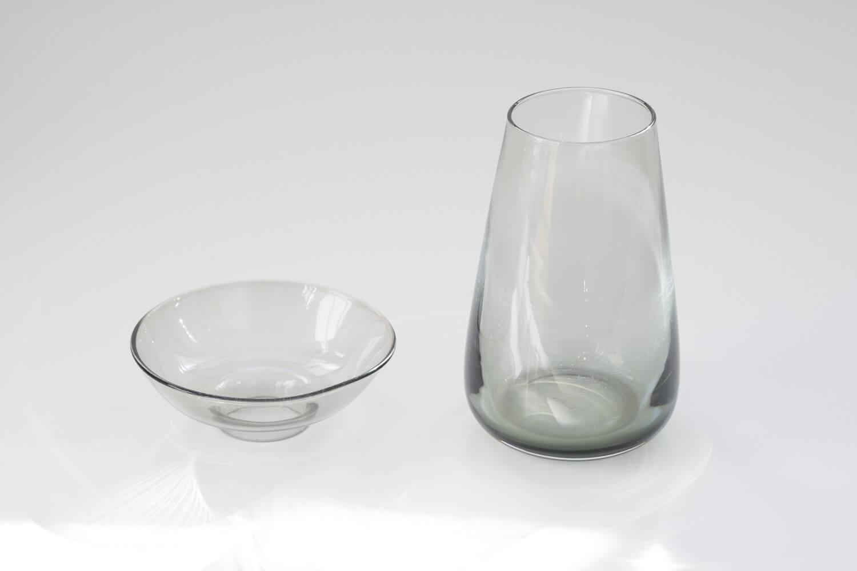 KINTO(キントー)アクアカルチャーベース80mmグレーは球根水栽培と花瓶の2通りで使える2