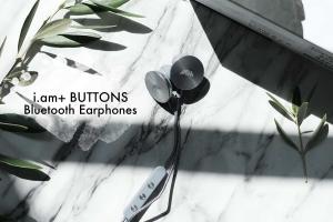 i.am+ BUTTONS Bluetoothイヤホンを購入!グッドデザインなディスク型で高級感もあります