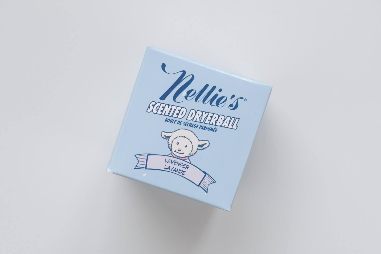 Nellie'sのドライヤーボールのラベンダーの香りのボックスデザインもかわいい