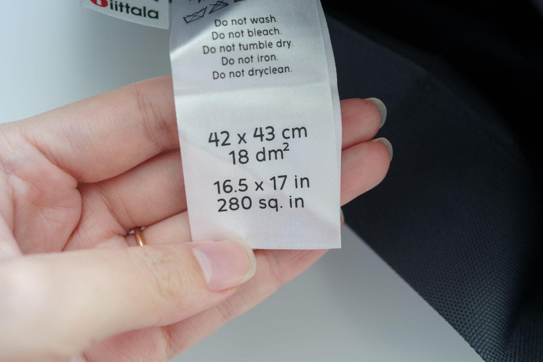 イッタライッセイミヤケ 折りたたみバッグ サイズ