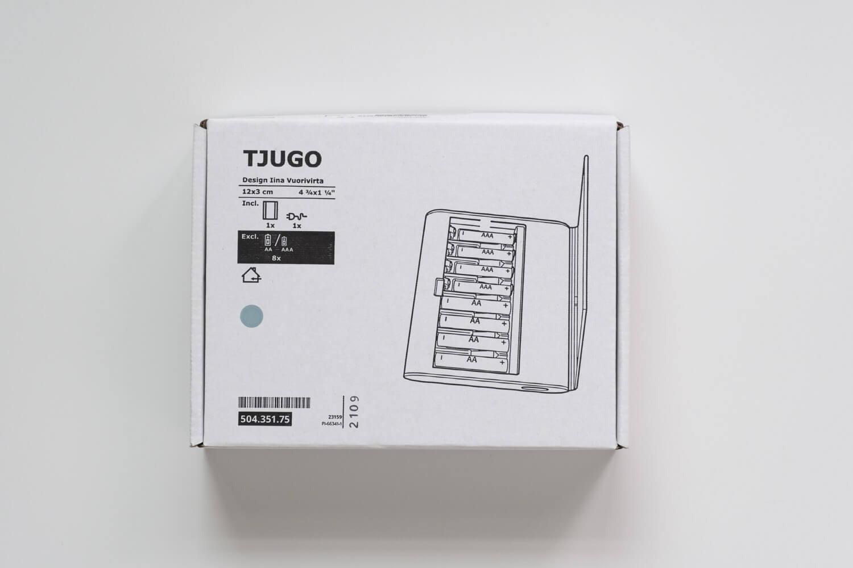IKEA 電池充電器 TJUGO (チューゴ)の箱