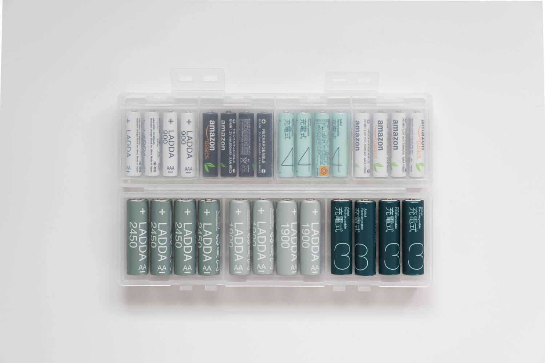 普段電池を収納しているサンワサプライのケース