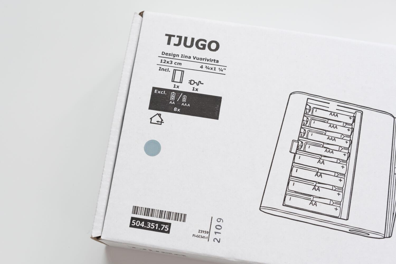 IKEA 電池充電器 TJUGO (チューゴ)のサイズや詳細