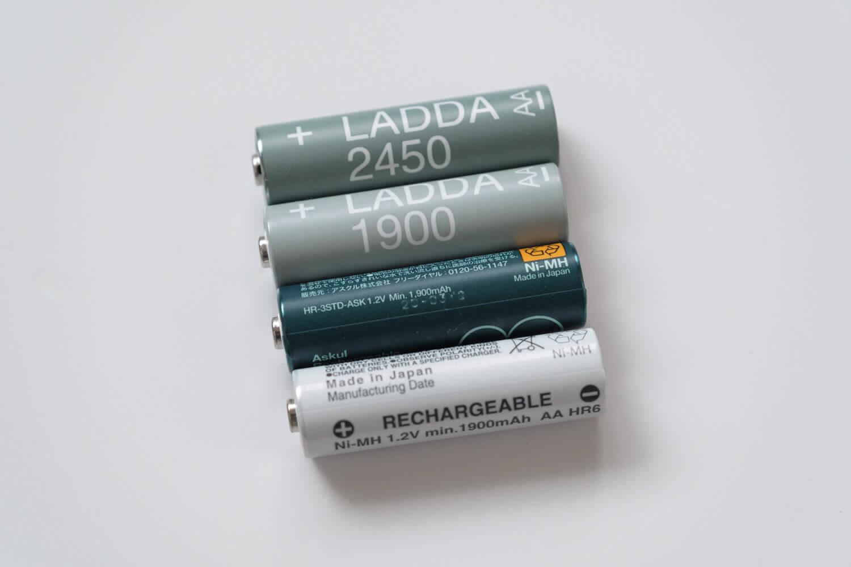 単三電池の容量