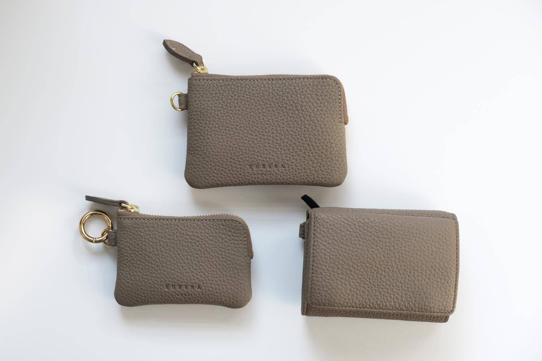 2019年12月のカバンの中身のKUBERA9981ポーチとキーケース付き財布