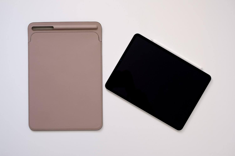 10.5インチ用iPadレザースリーブケース iPadPro 11インチと