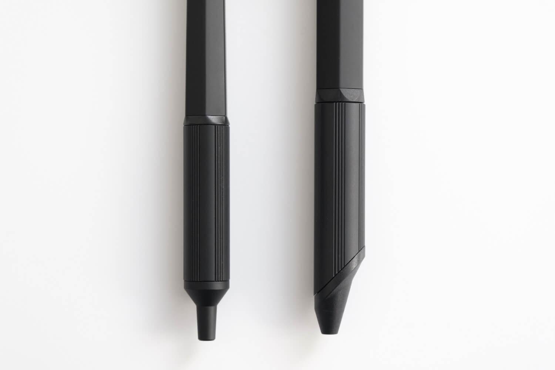 JETSTREAM EDGE 3とJETSTREAM EDGE通常を比較(ブラック)のグリップ部分
