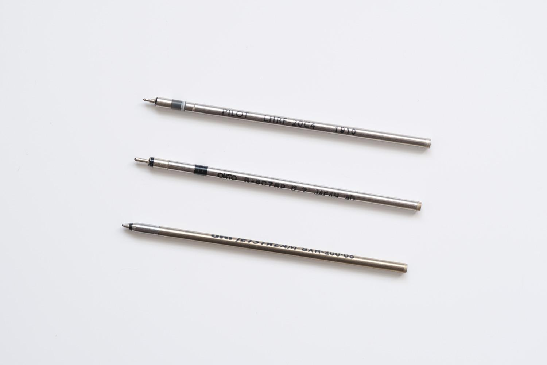 ジェットストリームプライム3色ボールペン ベージュ(SXE3330005.45)の芯と他の4C規格の芯