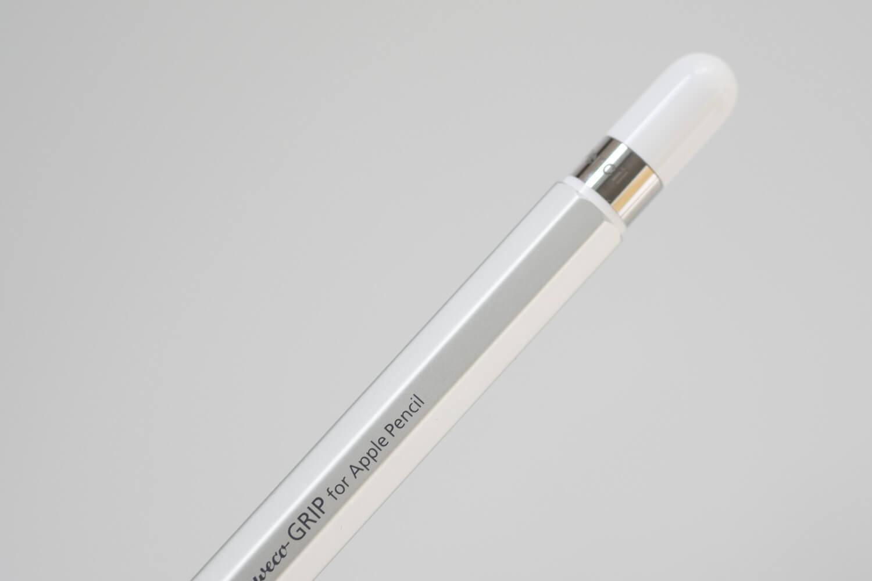 カヴェコ アップルペンシル用グリップ Grip for ApplePencilは八角形でアップルペンシルが転がらない