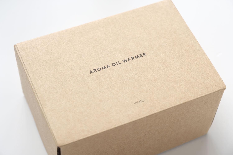KINTO アロマオイルウォーマーの箱のロゴ