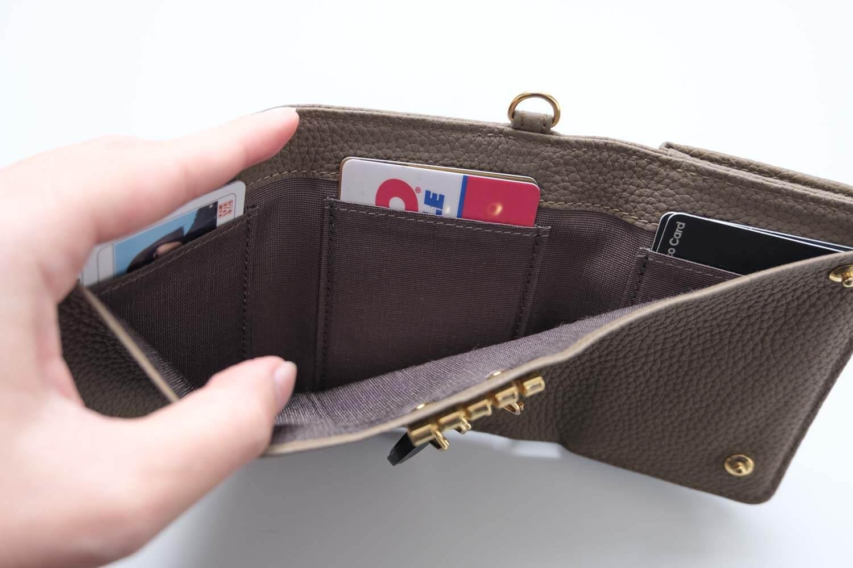 KUBERA9981 シュランケンカーフキーケース付き財布 トープ 内側の素材はよくある素材
