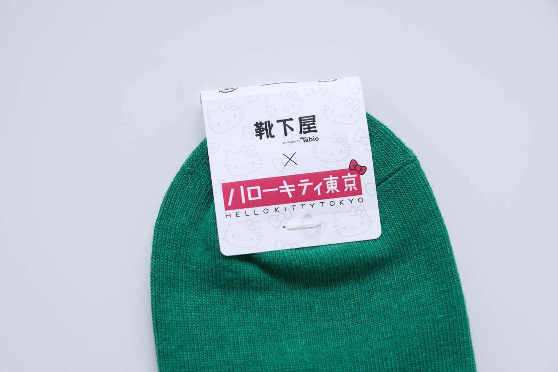 靴下屋サンリオコラボボックスロゴアメリブショートソックスはハローキティ東京タグつき