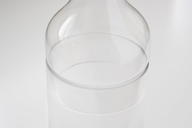 スパイスのラボグラス(LABO GLASS)フラワーベースを組み立てたときの重なった部分