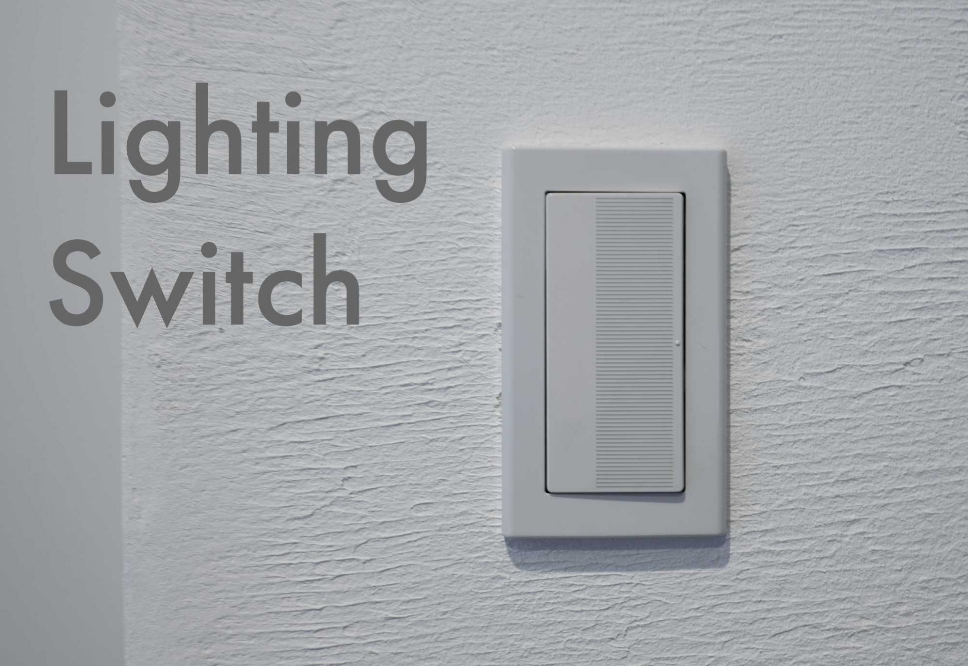電気のスイッチやライトコントロールもやっぱりスクエア型にしました!