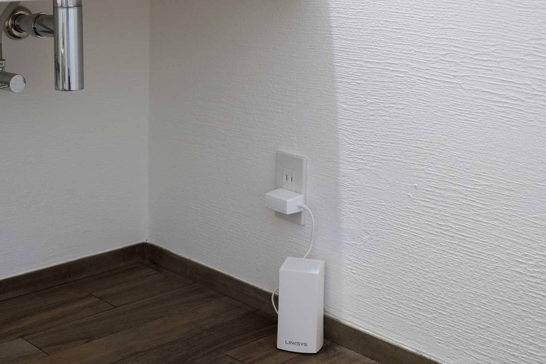 LINKSYS VEROP メッシュWi-Fi  設置後 2階洗面下