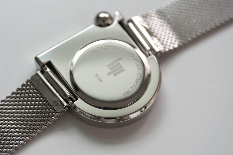 LIP(リップ)MACH mini(マッハミニ) シルバーメッシュバンド 裏側のデザイン