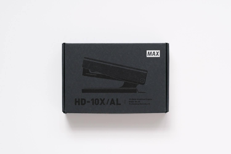 マックス フルメタルホッチキス HD-10X(シルバー)の箱