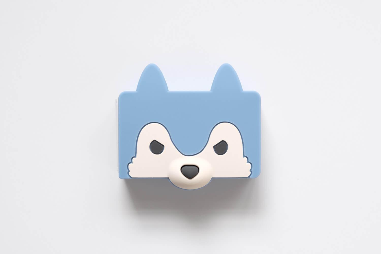 マックス ホッチキス針 シリコンカバー ケース付き りくちのいきもの(オオカミ)カバーはシリコン素材