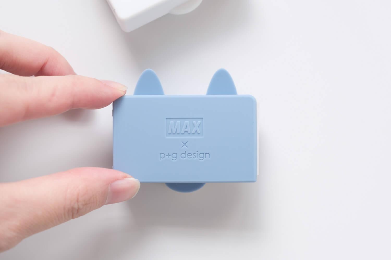 マックス ホッチキス針 シリコンカバー ケース付き りくちのいきものシリコンカバーの裏側のロゴ