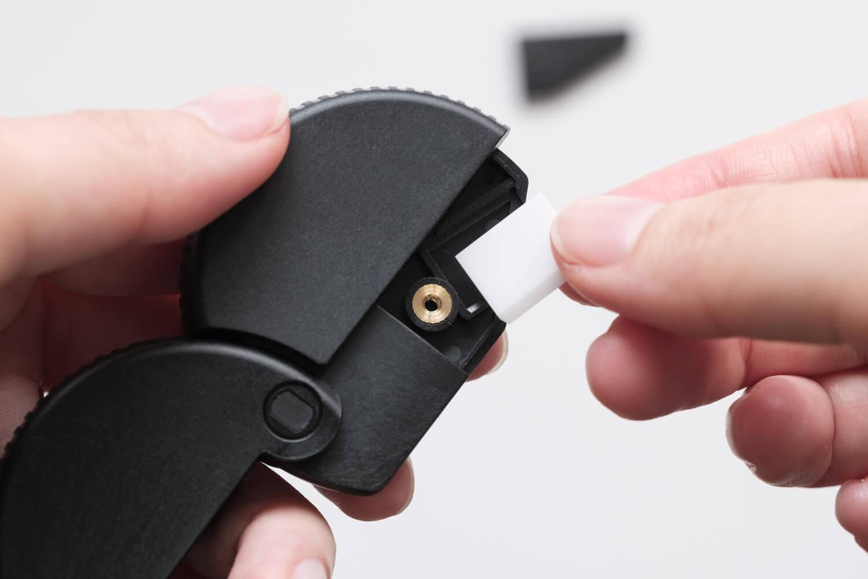 ミドリ ダンボールカッター ニューモデル 35409006(ブラック)の刃を裏替えせれば切れ味が戻る