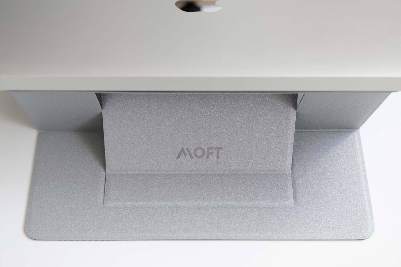 ノートパソコンスタンド MOFT シルバー 高い状態