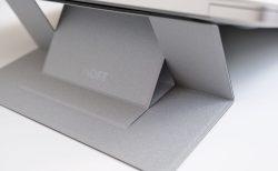 ノートパソコンスタンド MOFT シルバー 高い状態を横から